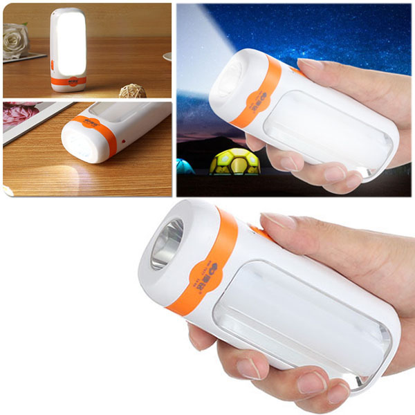 11 SMD LED Mini Torch Camping Rechargeable Lantern 2 Modes 900mA