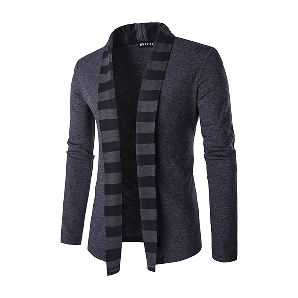 Fashion Cardigan Sweater Mens Trends Knitwear Casual Stripes Col