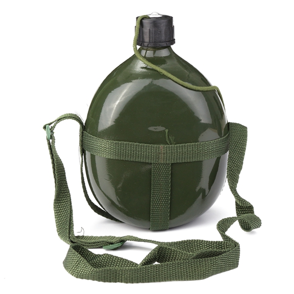 1.5L Military Canteen Aluminum Bicycle Cycling Military Water Cu