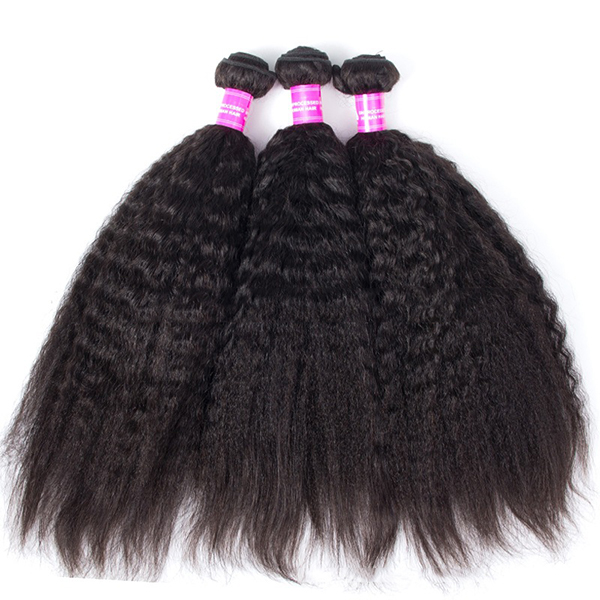1 Bundle Kinky Straight 100% Brazilian Human Virgin Hair Extensi