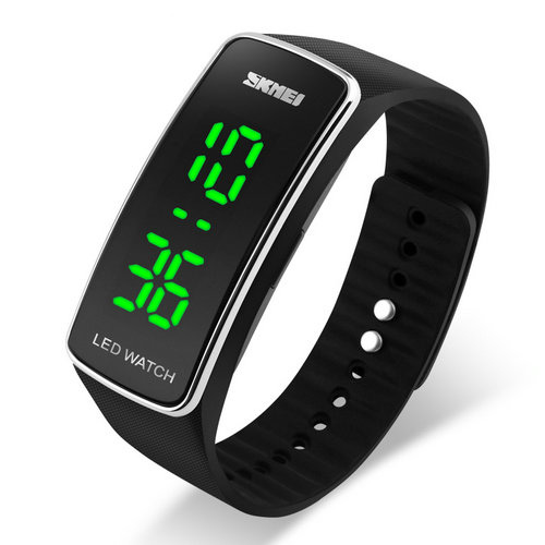 SKMEI 1119 LED Digital Watch Outdoor Activity Silicone Strap Chi