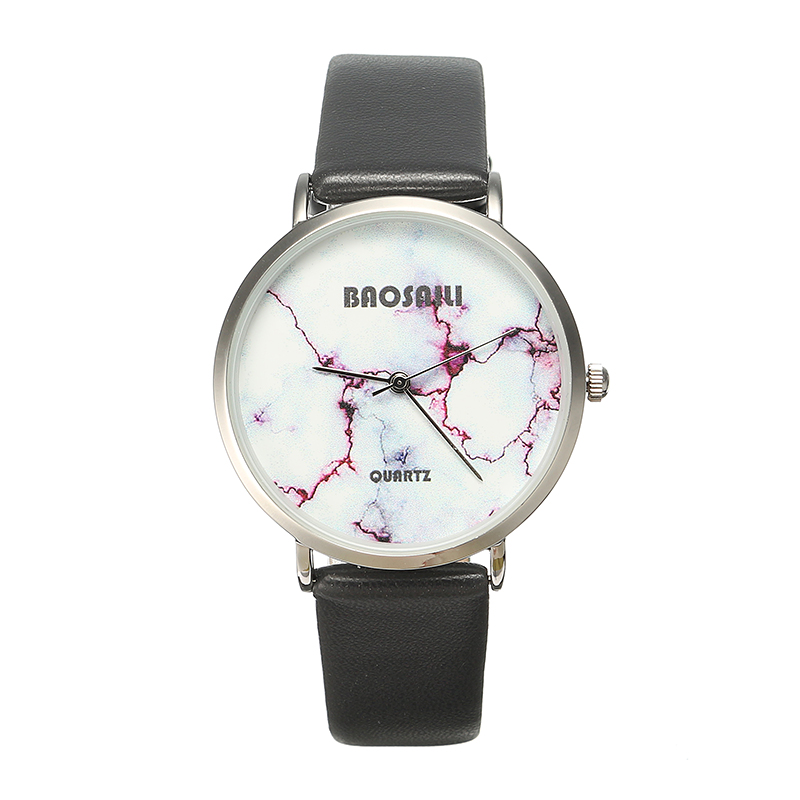 BAOSAILI Fashion Casual PU Leather Band Women Quartz Watch Wrist
