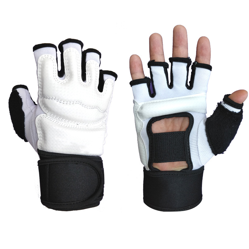 1 Pair Tactical Half Finger Glove Slip Resistant Soft Riding Hun