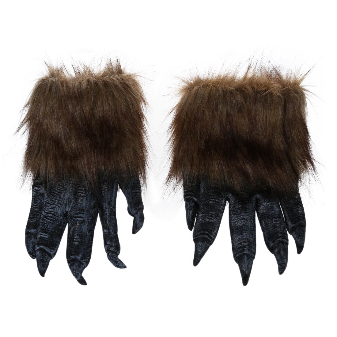 1 Pair Wolf Gloves Halloween Mask Animal Set Werewolf Masquerade