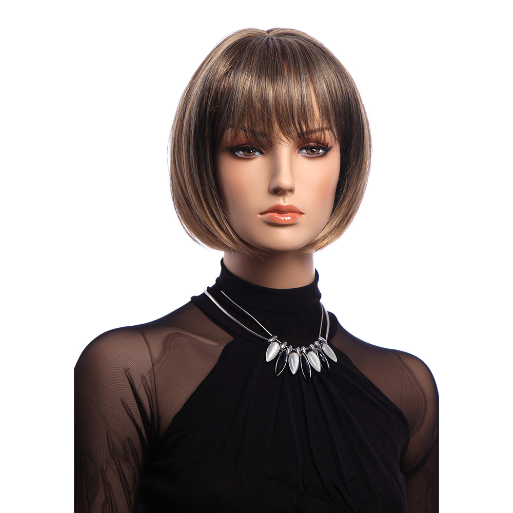 12 Inch Short Straight KANEKALON Full Wig Elegant Bobo Synthetic