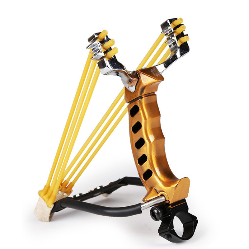 IPRee Tactical Stainless Steel Slingshot Rubber Band Catapult Ou