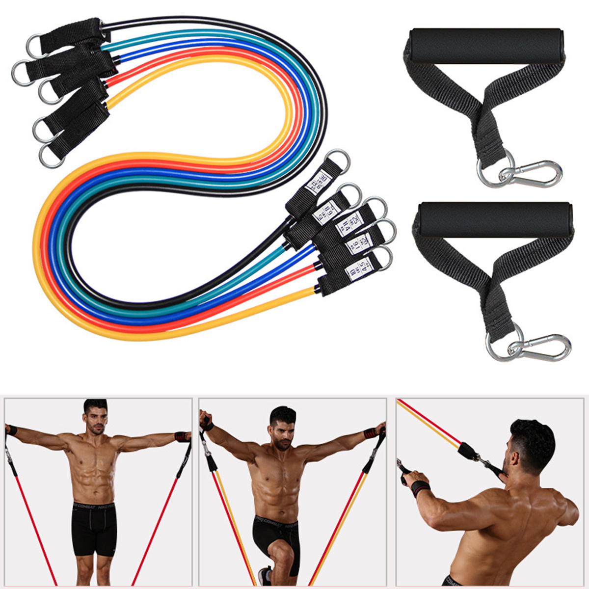 25-150LBS Fitness Pulling Rope Elastic Resistance Band For Home