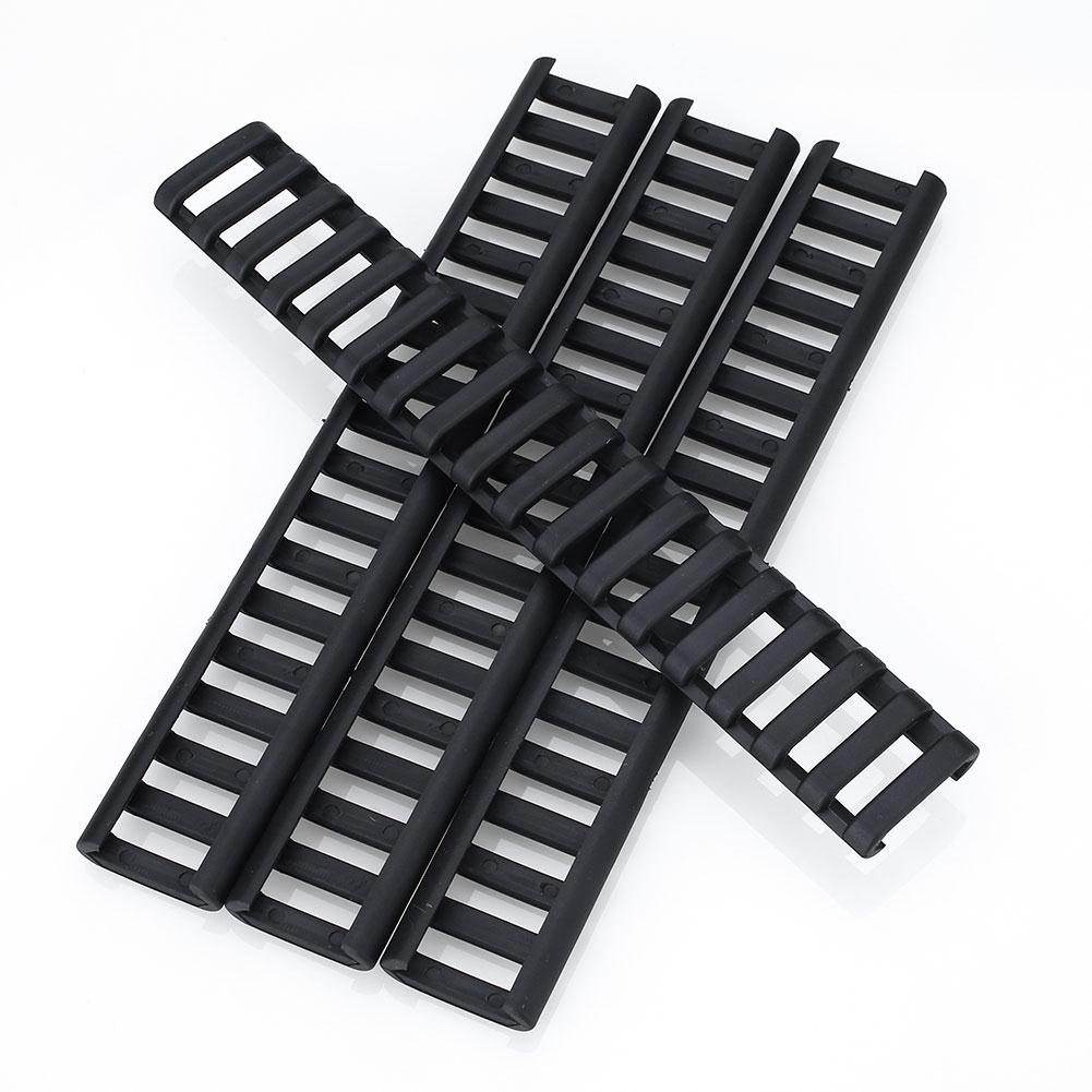 4pcs 18-Slot Picatinny Ladder Rail Panel Handguard Protector Res