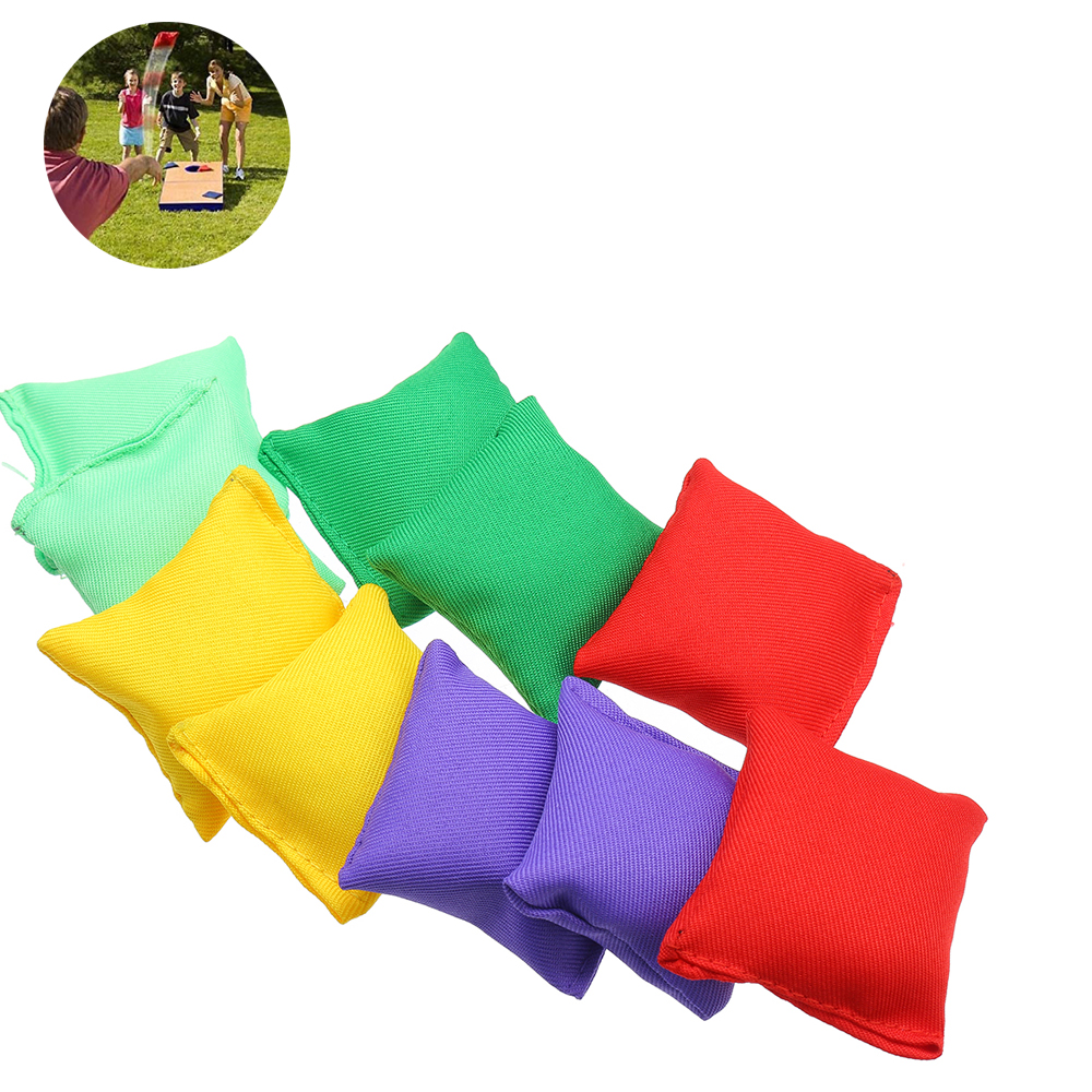 10 Pcs  Nylon Bean Bags Children Family Throwing Sandbag Ball Ca