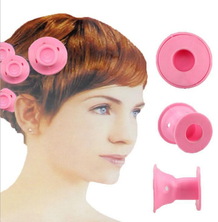 10Pcs/1Set Medium Short Hair Curler Snail Roll Silicone Bells Cu