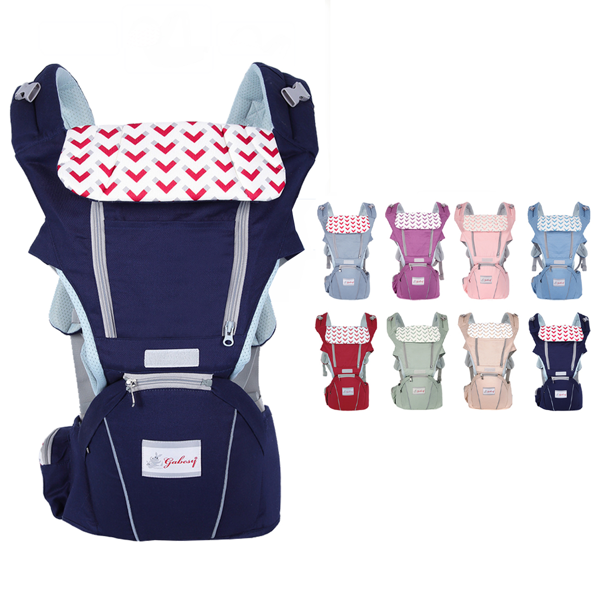 0-36 Months 3 in 1 Breathable Front Baby Carriers Waist Stool In