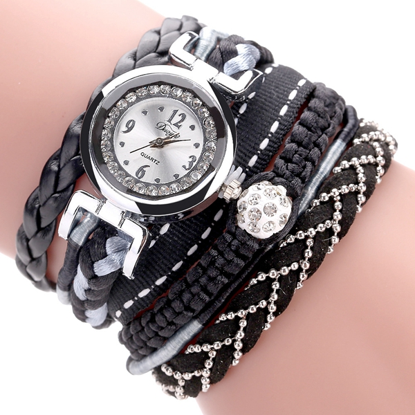 DUOYA DY080 Fashionable Fine Leather Band Winding Ladies Bracele