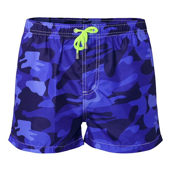 Mens Summer Fashion Camo Quick Drying Beach Shorts Surf Swim Tru