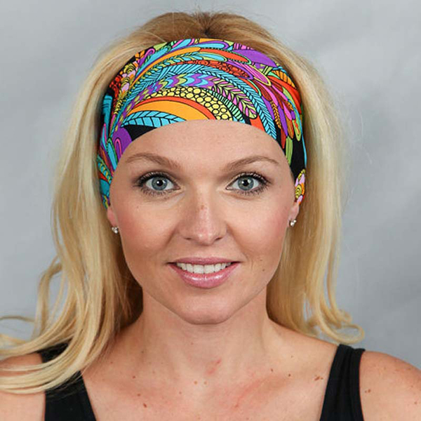 1 PCS Bohemia Yoga Headband Elastic Seamless Bandana Scarf UV Re