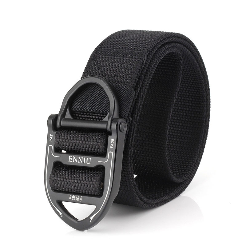 125CM ENNIU Nylon Tactical Belt with Ring Buckle Outdoor Multi-F