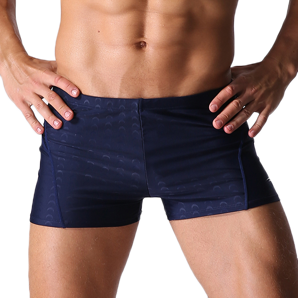 Mens Sexy Beach Swimming Quick Drying Trunks Solid Color Waterpr