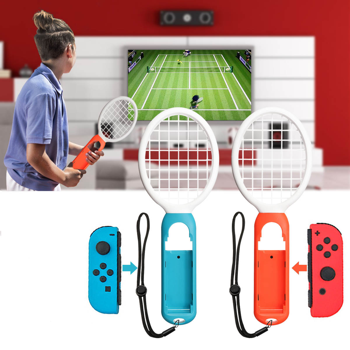 1 Pair Tennis Gamepad ABS Game Controller Sport Games Grip Tenni