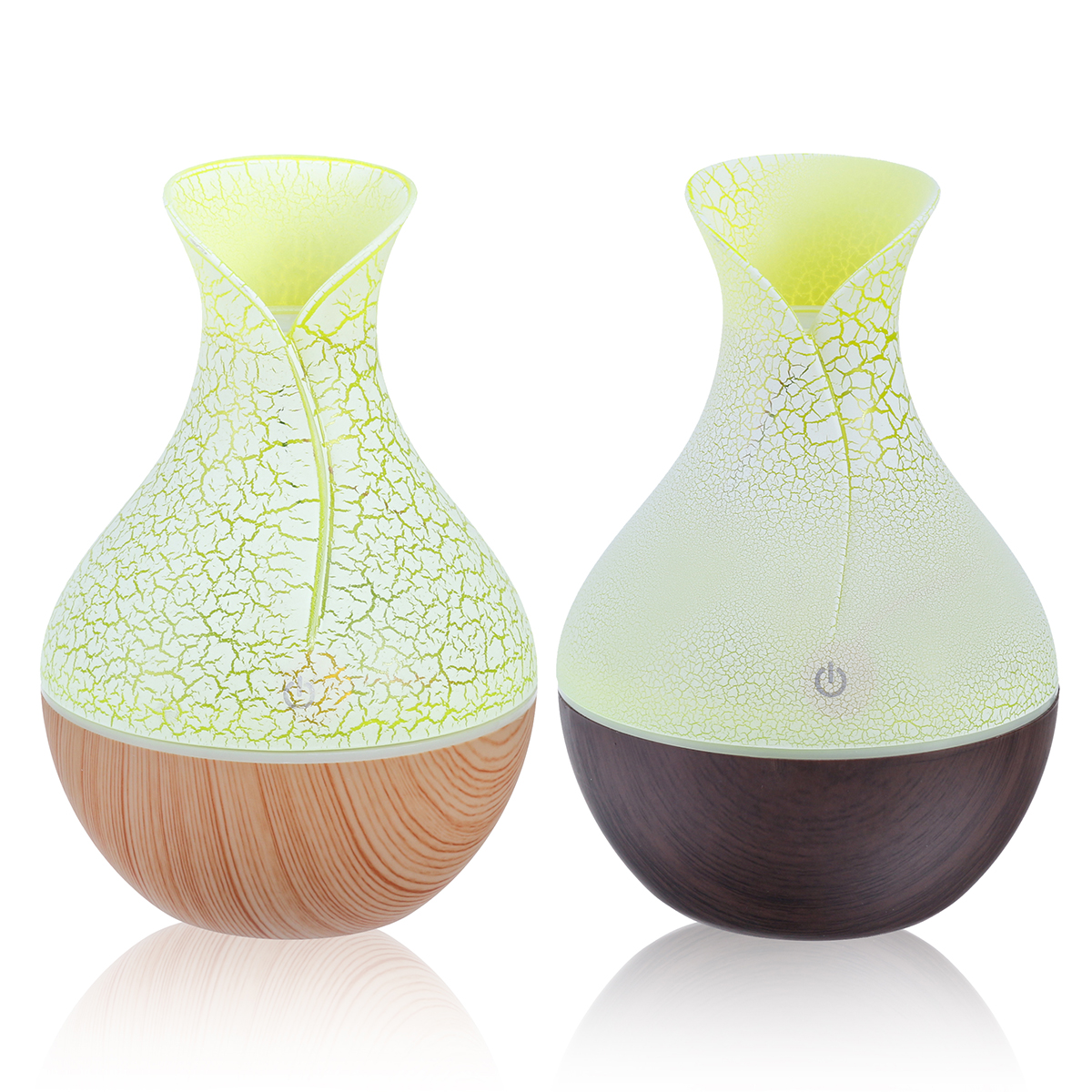 130ml LED USB Mini Vase Ultrasonic Air Humidifier Low Noise Arom