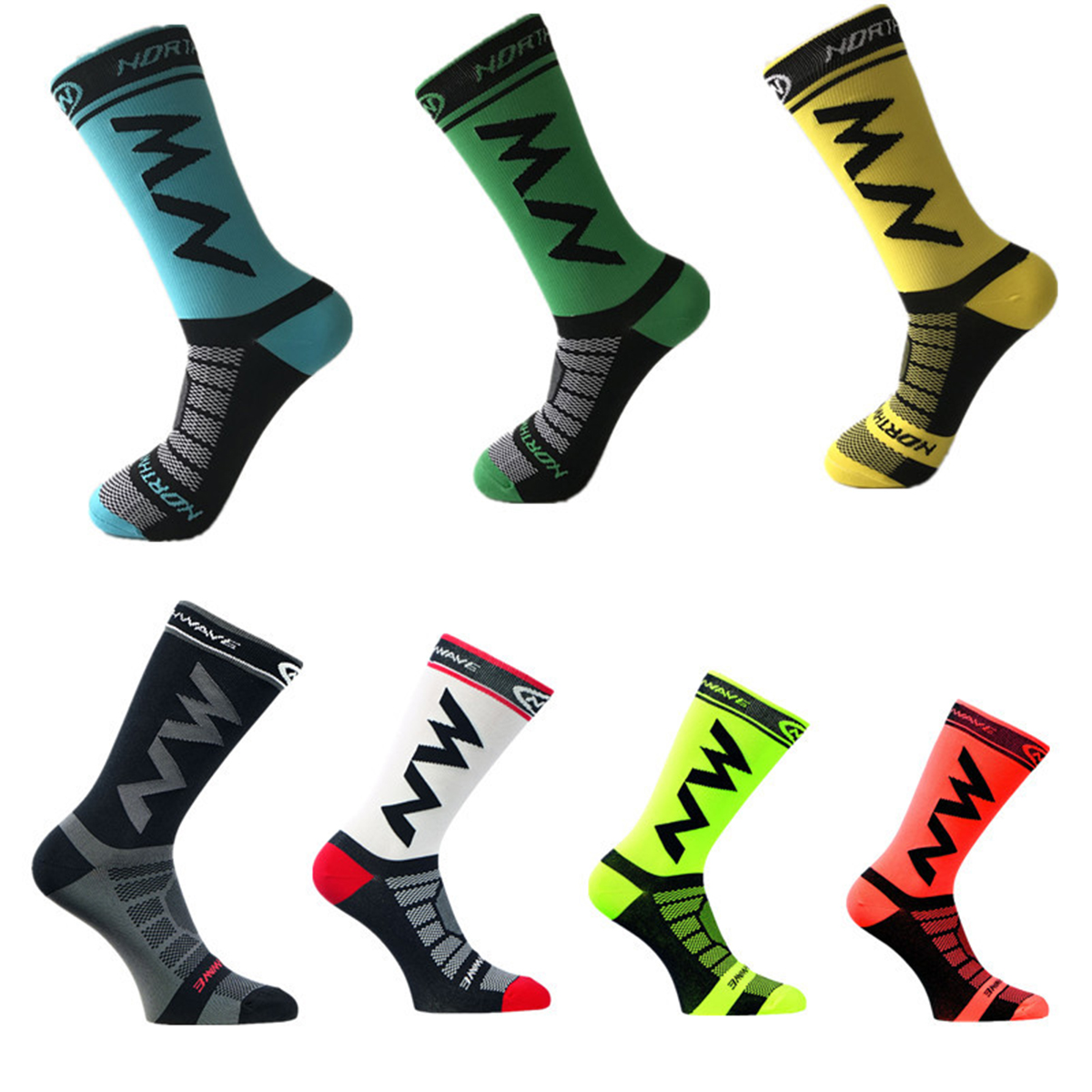 1Pair Sports Anti Slip Cycling Compression Stockings Unisex Brea