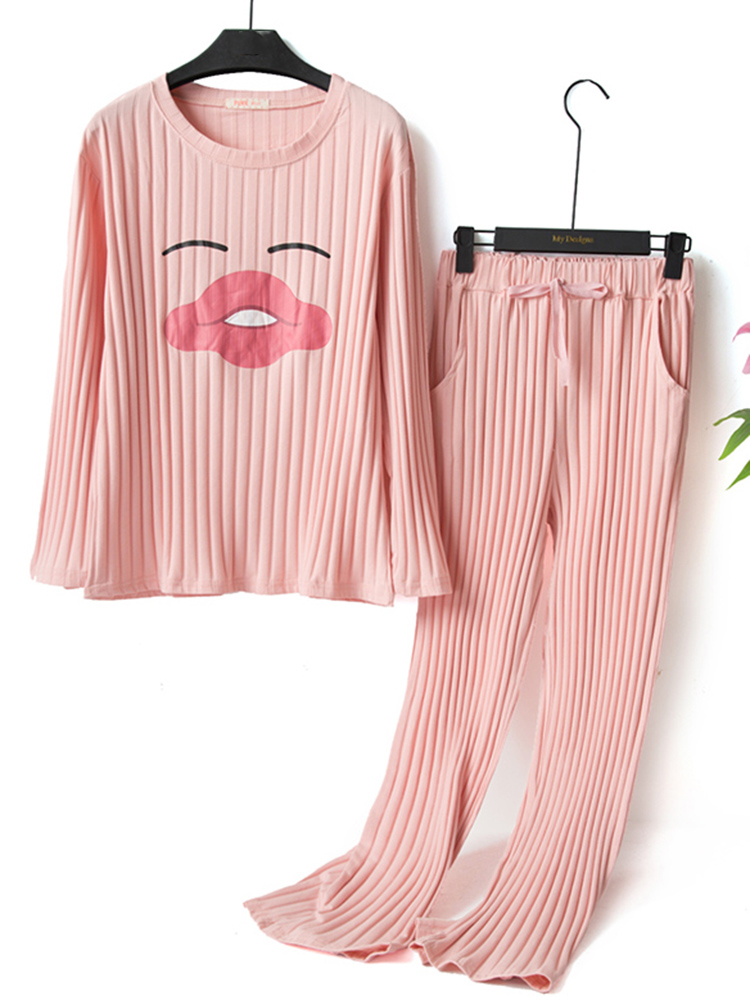 Cotton Elastic Overhead Emotion Printed Pajama Set