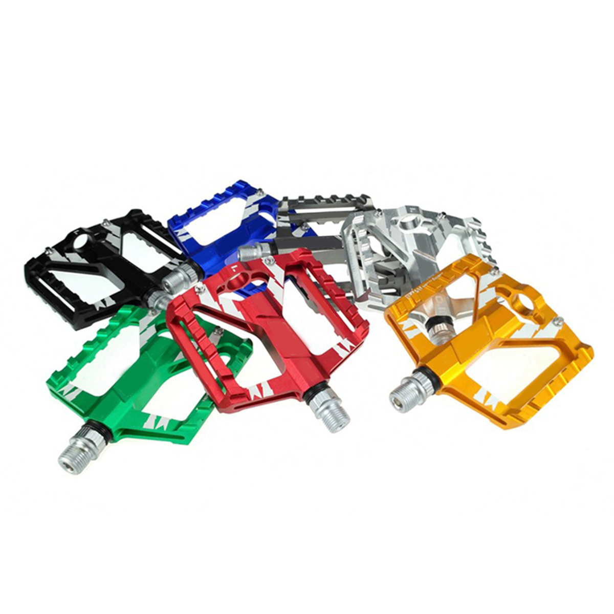 2Pcs Mountain Road Bike Aluminum Alloy MTB Pedals Flat Platform