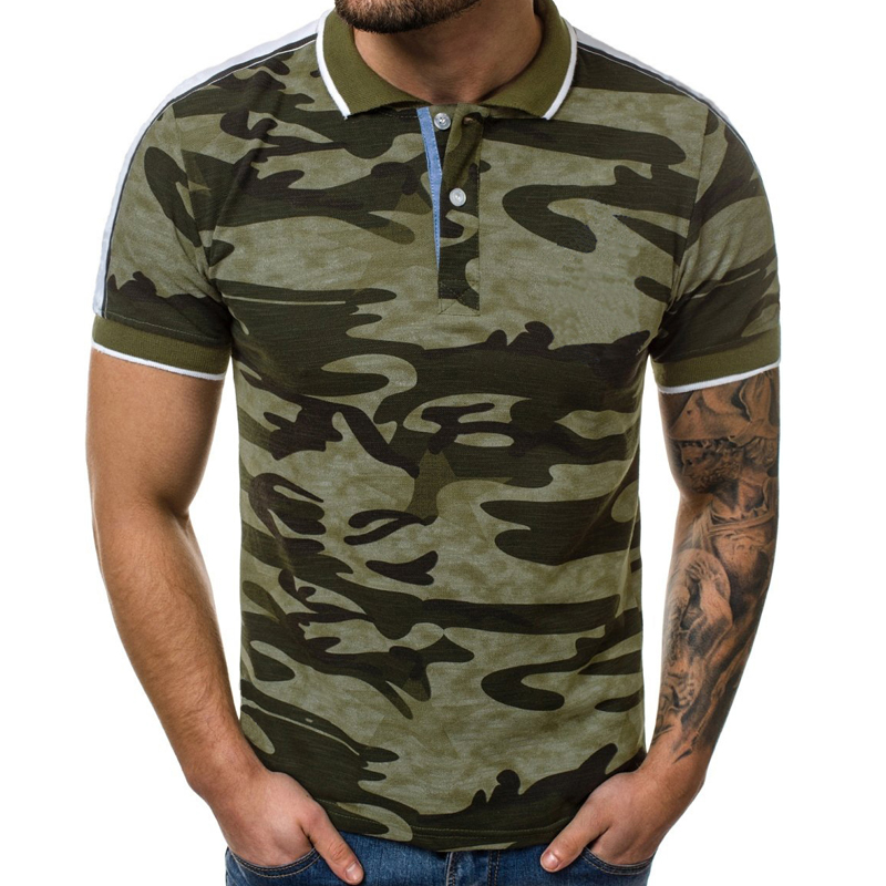 3D Digital Printing Camouflage T-shirts Breathable Quick Dry Spo
