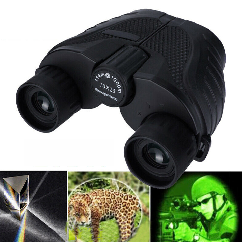 10X25 HD Mini Binocular Outdoor Night Vision BAK4 Prism Telescop
