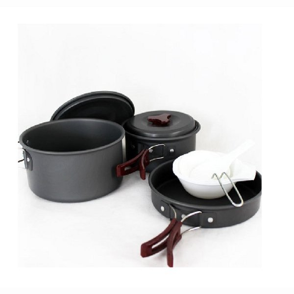 High Quality 2-3 People Sets Pan/Camping Set Of Pan/Sets Pot (Ca