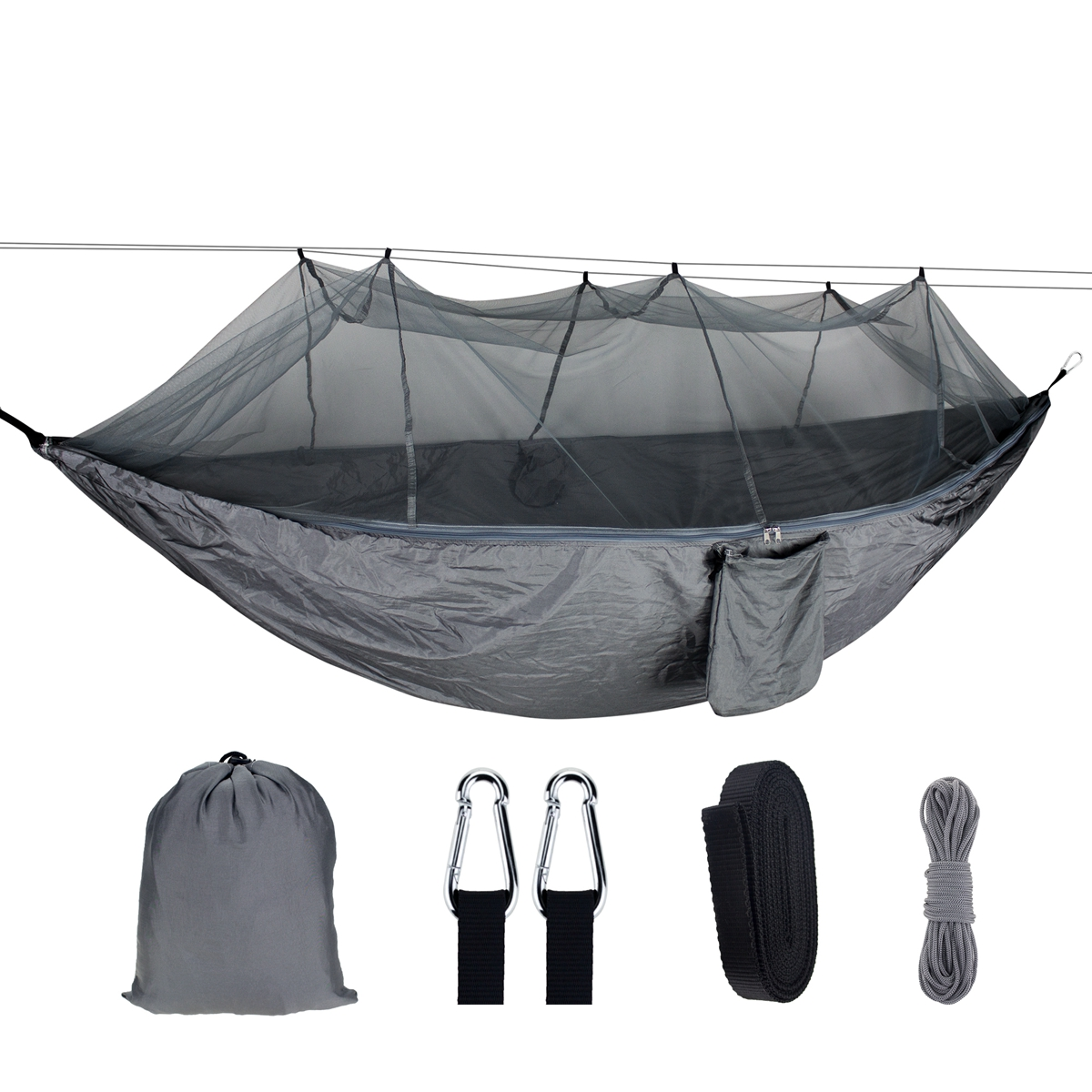 1-2 Person Portable Outdoor Camping Hammock with Mosquito Net Hi