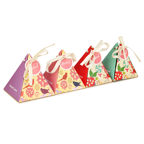 1pcs Wedding Festival Candy Box European Style Triangle Hard Pap