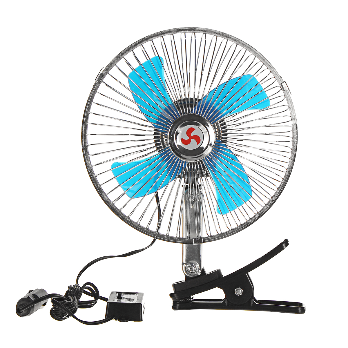 2 In 1 12V Car Clip-on Fan Camping Travel Portable Air Condition