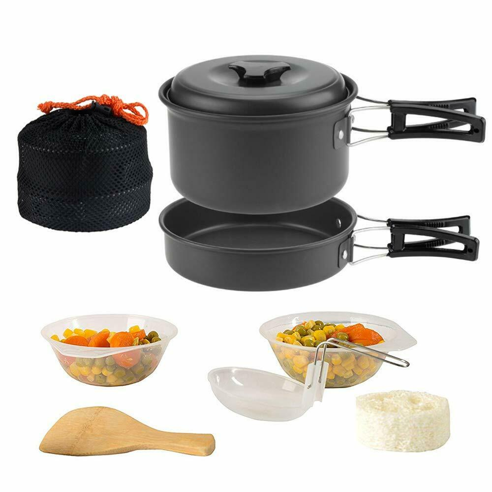 1-2 people 9 In 1 Camping Cooking Set Portable Picnic Set Outdoo