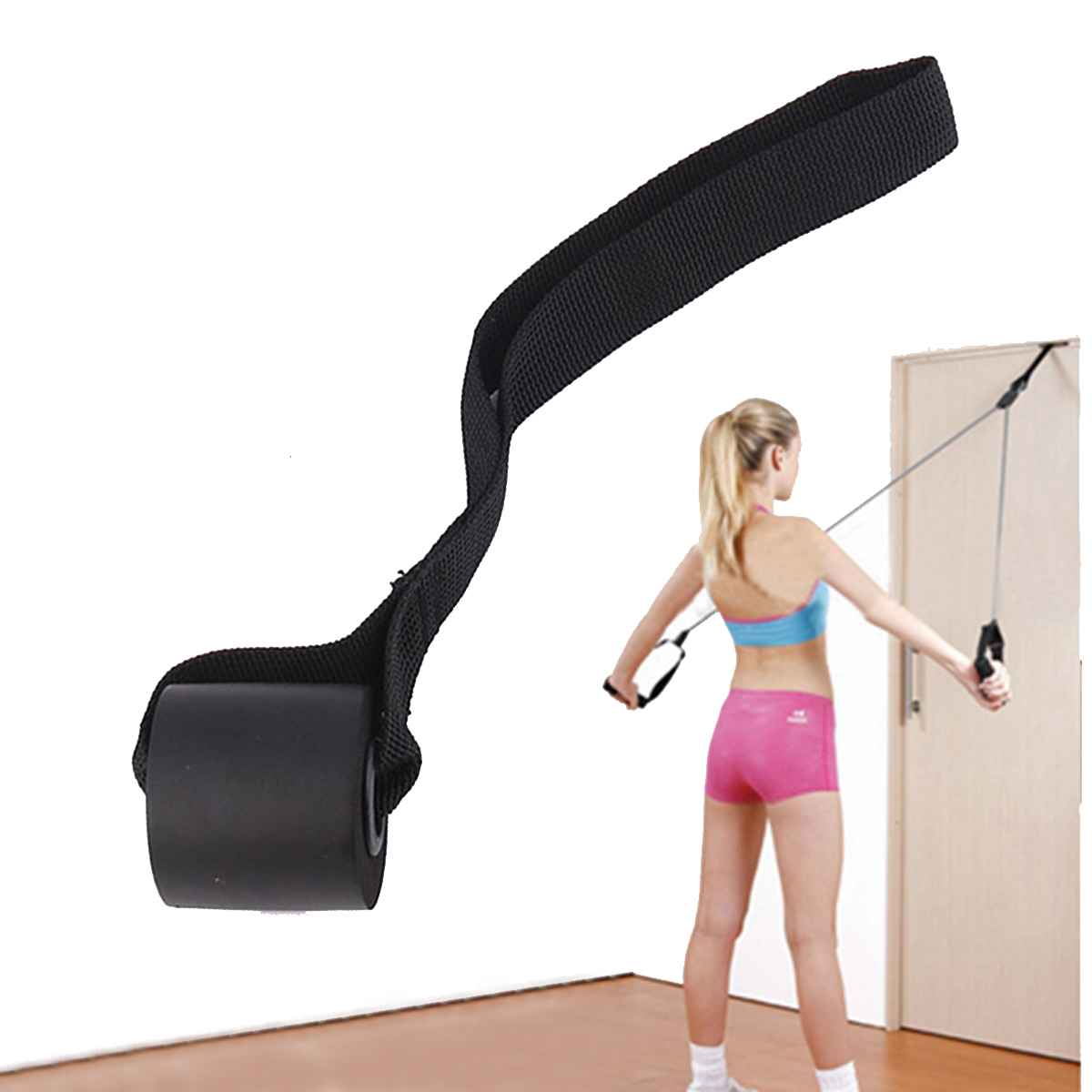 1 PC Training Exercise Over Door Anchor Resistance Bands Home Fi