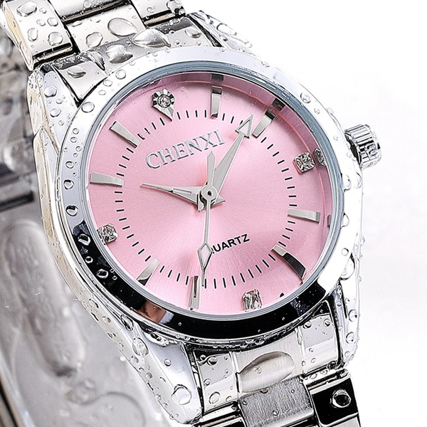 CHENXI 021B Rhinestone Fashionable Women Watches Stainless Steel