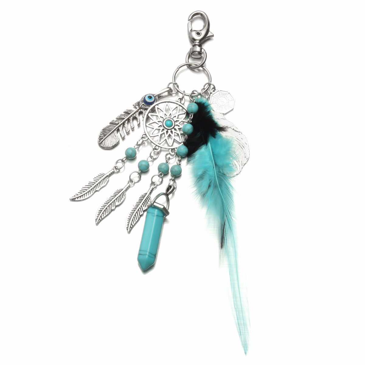 Tassel Feather Keychain Key Ring Bags Pendant