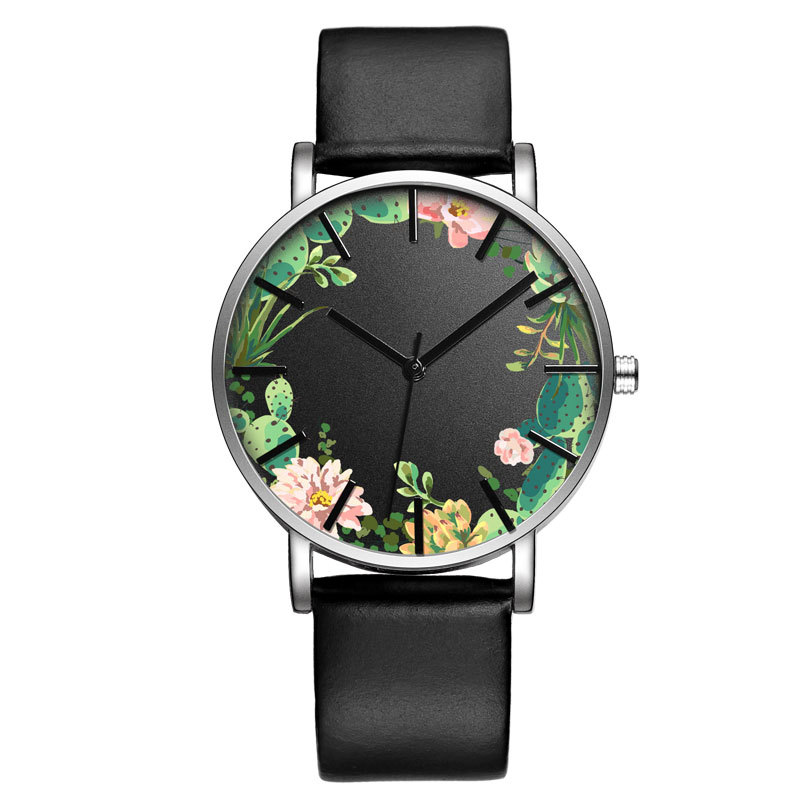 BAOSAILI B-9014 Unisex Wrist Watch Flower Picture Dial Display Q