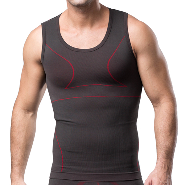 Mens Slimming Undershirt Vest Breathable Euramerican Style Corse