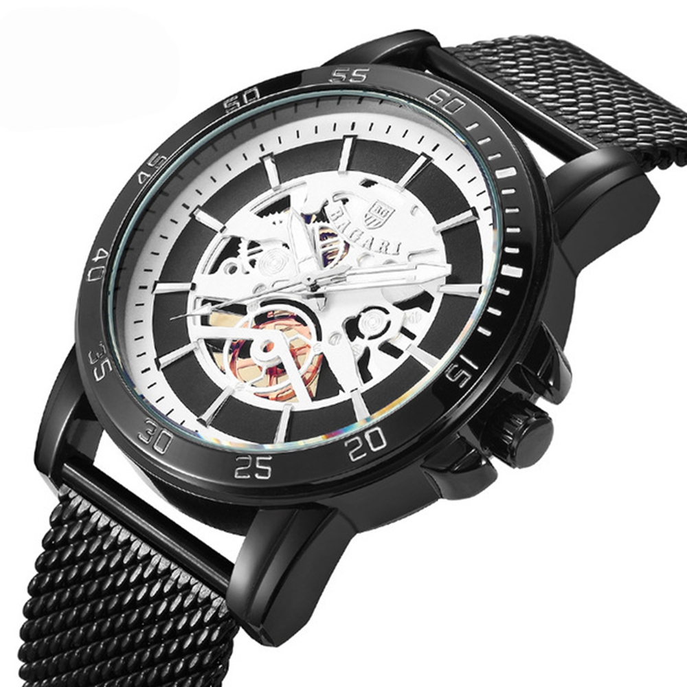BAGARI 1688 Casual Style Mechanical Appearance Quartz Watches Me