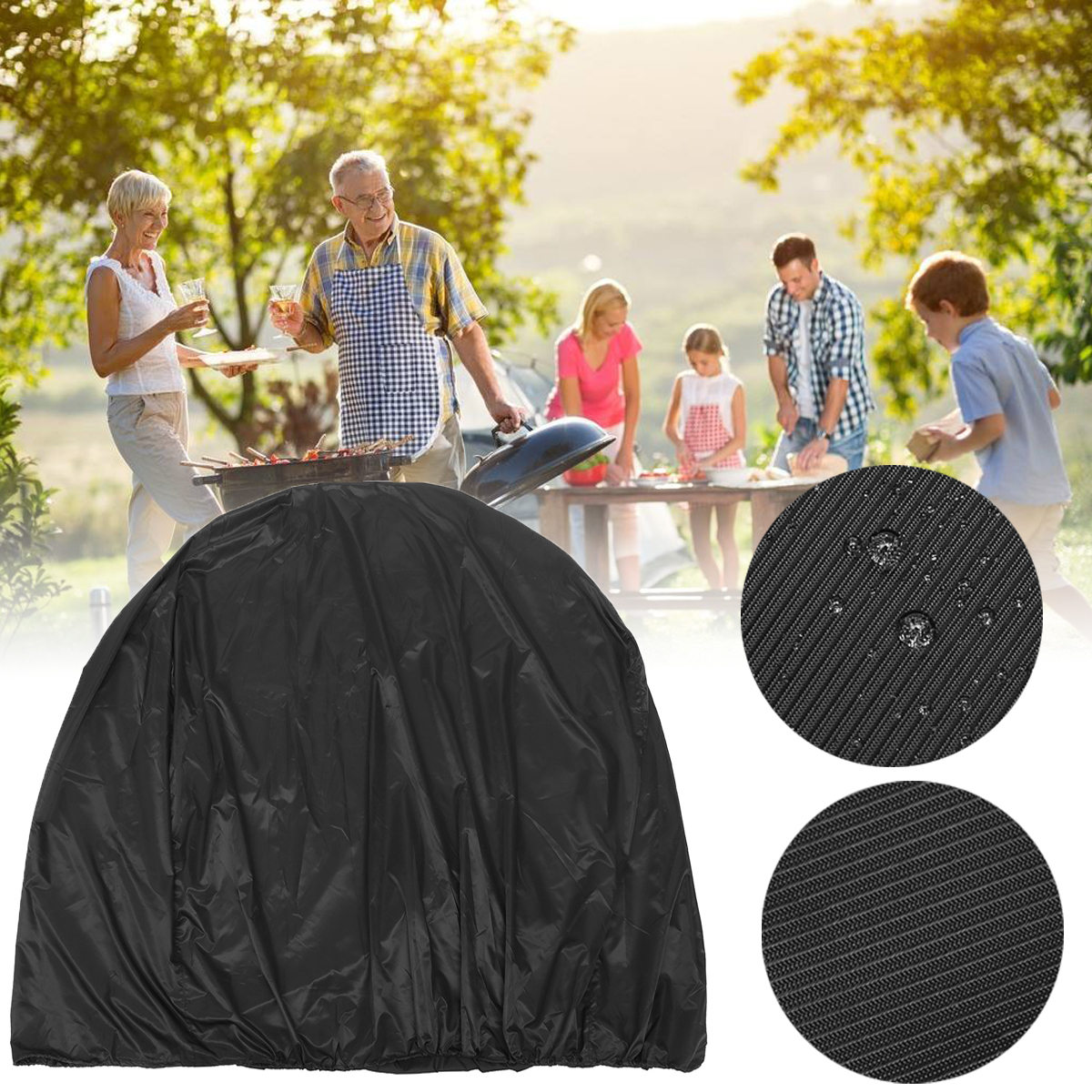 120x47.5x90cm BBQ Grill Cover Outdoor Picnic Waterproof Dust Rai
