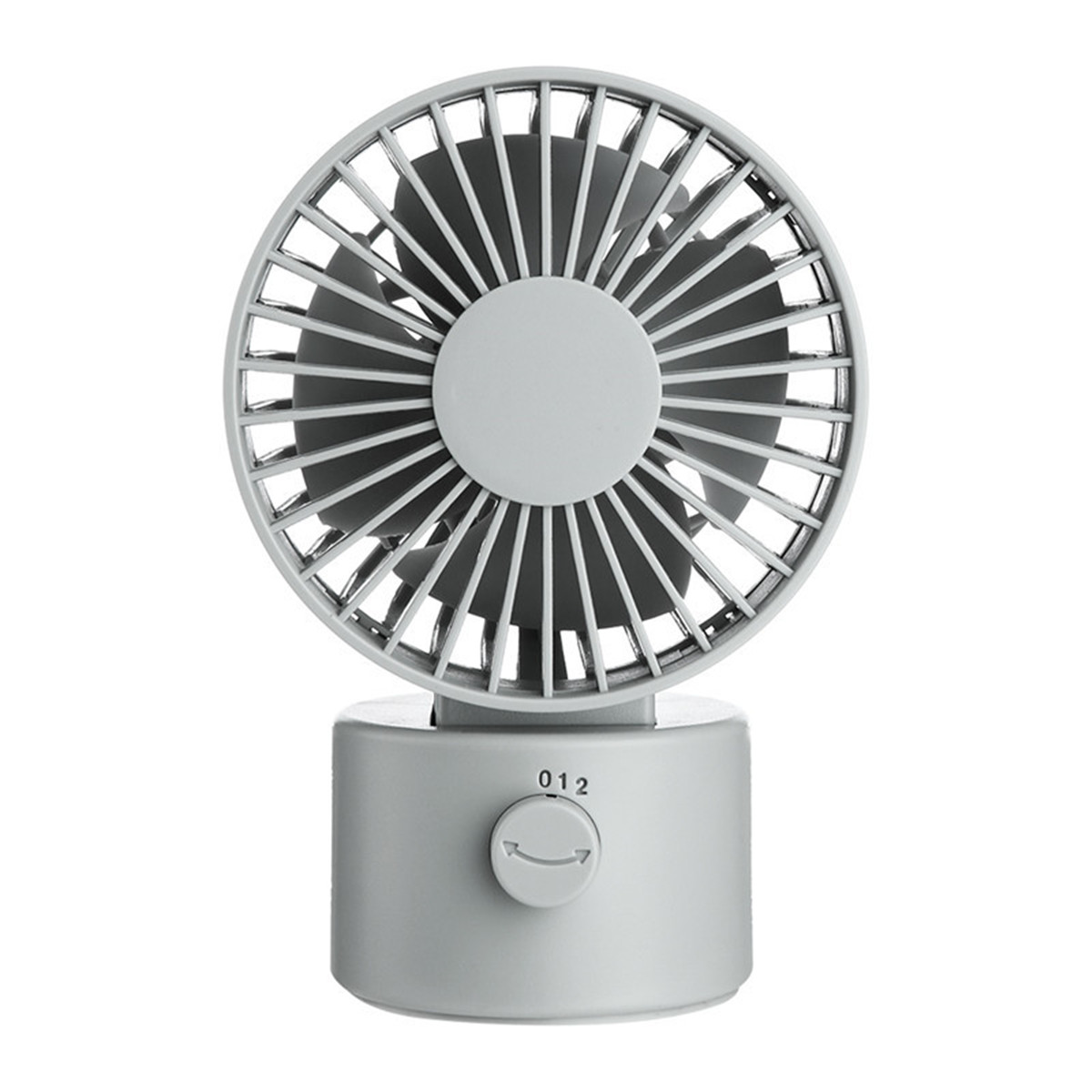 1.2W Mini USB Rechargeable Desktop Silent Fan 2 Modes Wind Speed