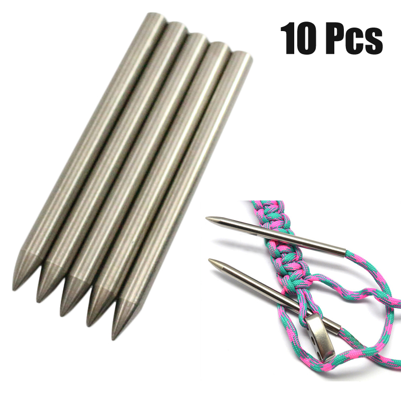 10 Pcs 6MM 550 Paracord Fid Lacing Stitching Weaving Needle Stai