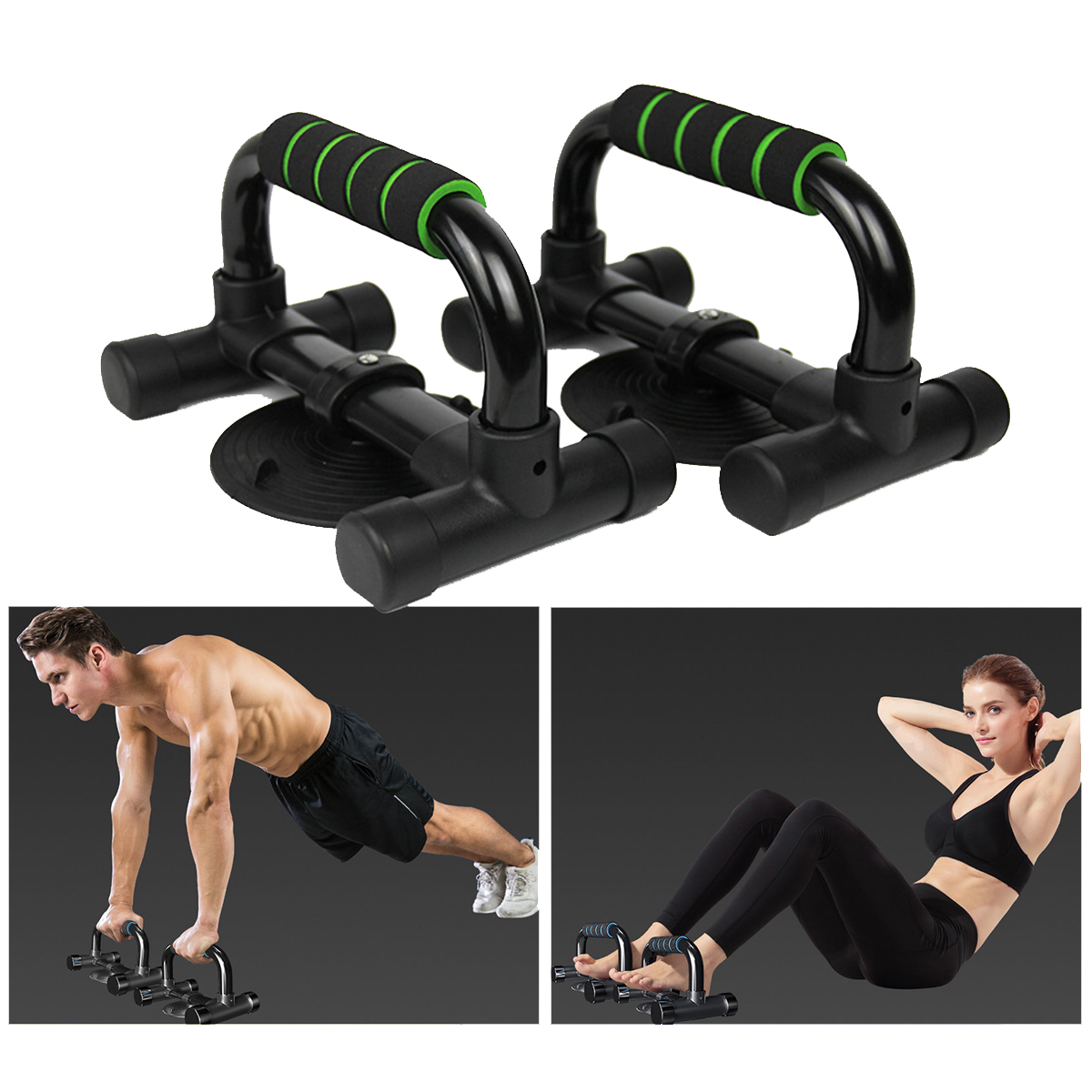 1 Pair Muscle Strength Training Push Up Stand Bar Sit-up Stands