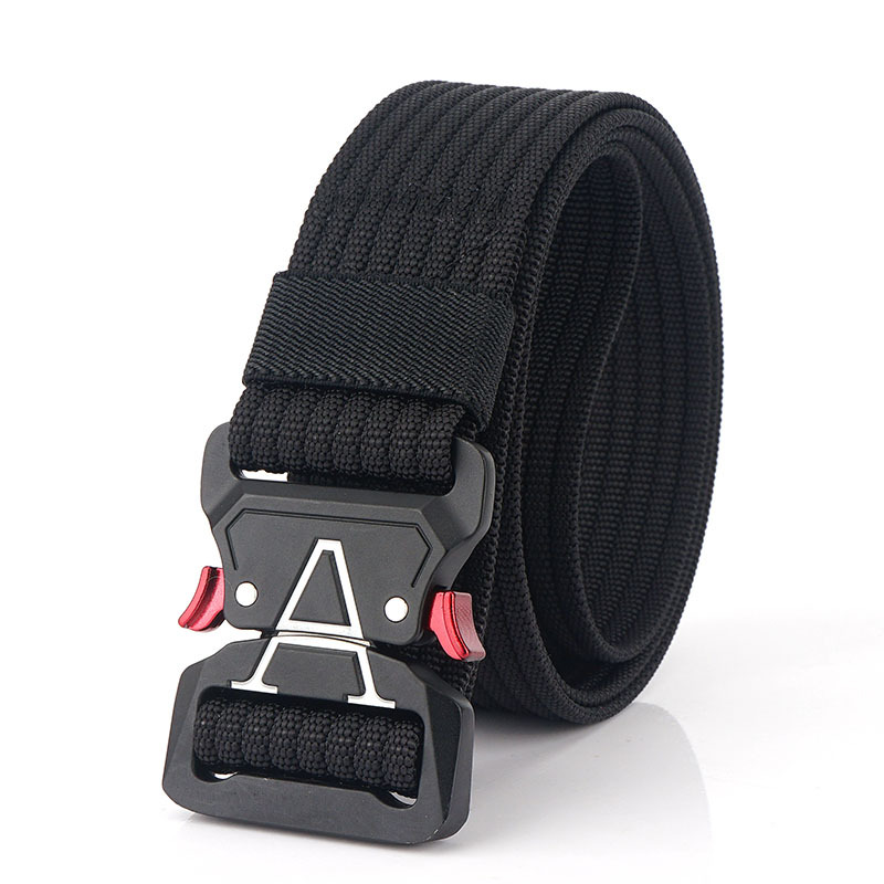 125cm 3.8cm Nylon Waist Leisure Belts Zinc Alloy Tactical Belt Q