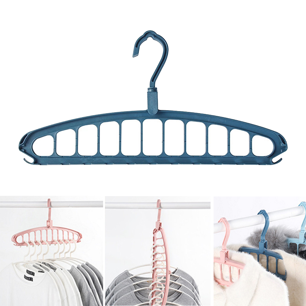 11 Holes Multifunctional Cloth Hanger Clothes Organizer Rack  Ca