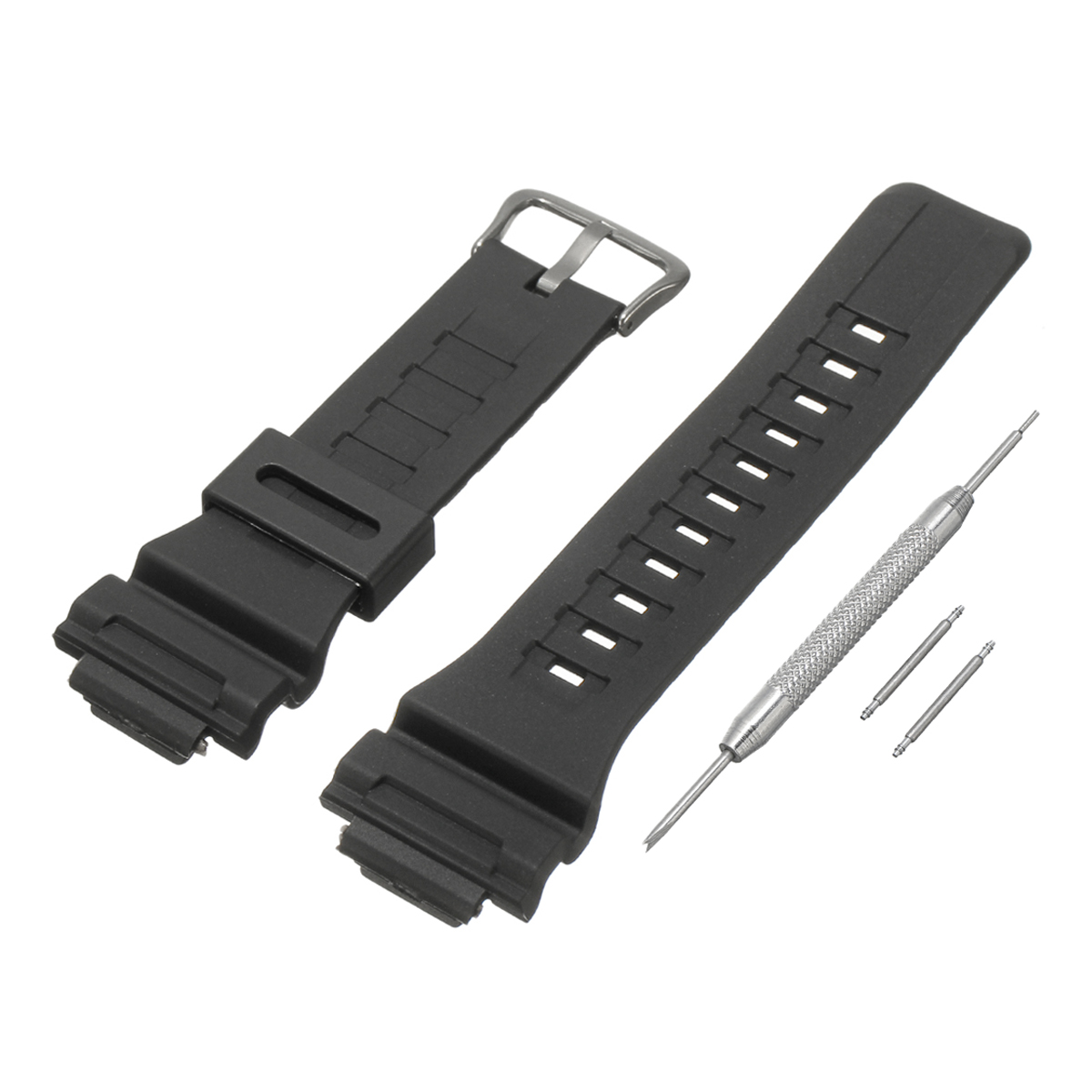 18mm Watch Strap Black Watch Band & Pins for G Shock AQ / SGW /