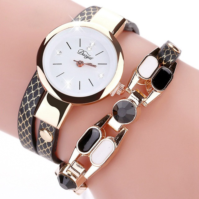 DUOYA DY106 Fashionable Women Bracelet Watch Vintage Leather Str