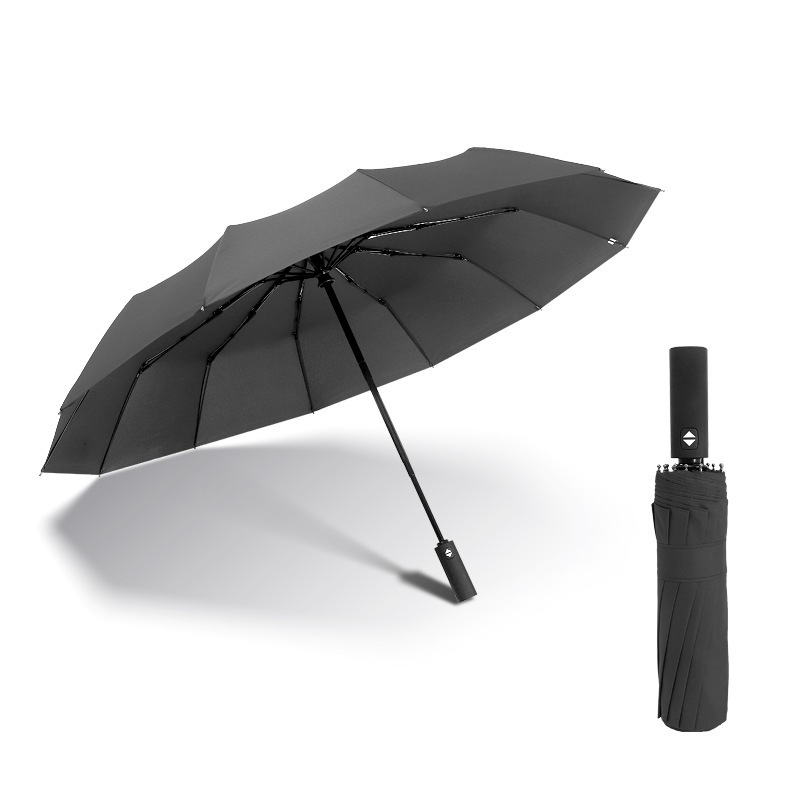 1-2 People Men Automatic Umbrella Windproof Resistant Parasol Fo
