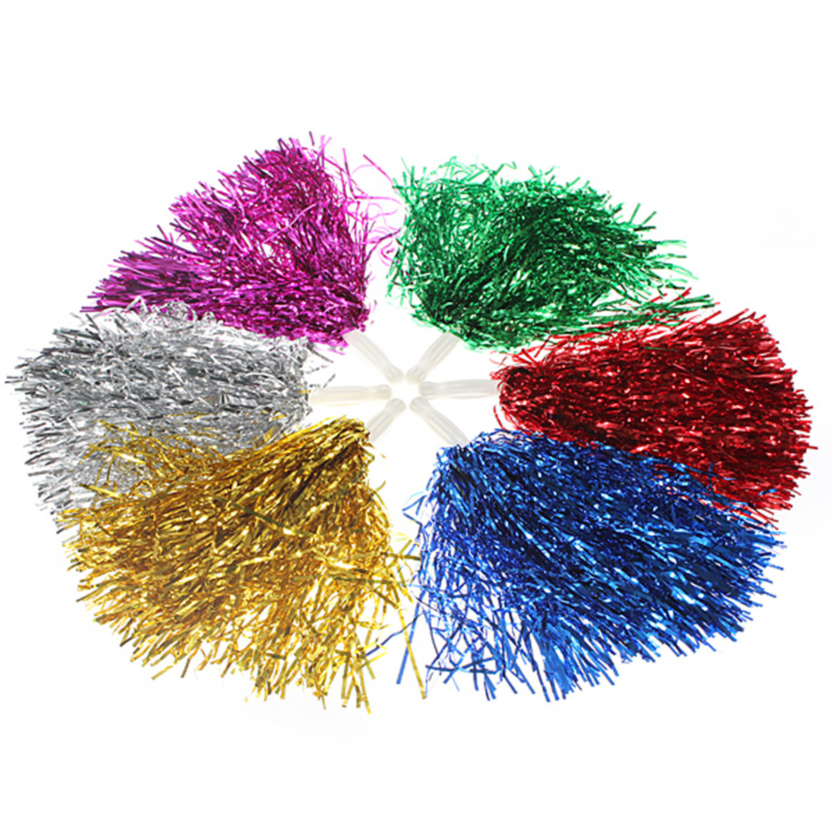 1 Pair Girls Cheerleader Pompom Cheerleading Cheer US Dance Part