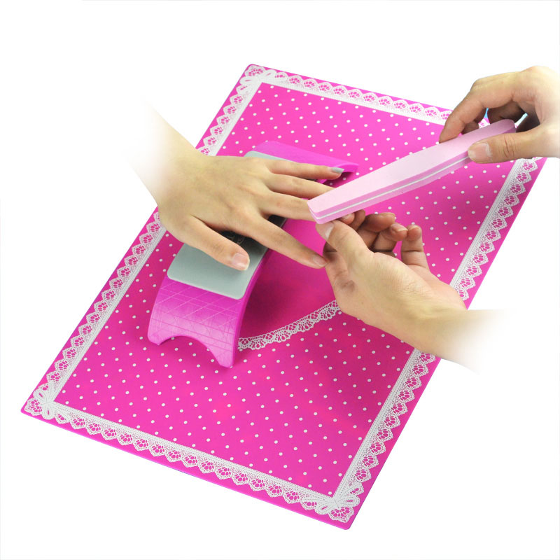 1 Set Nail Art Silicone Practice Cushion Mat Pillow Hand Holder