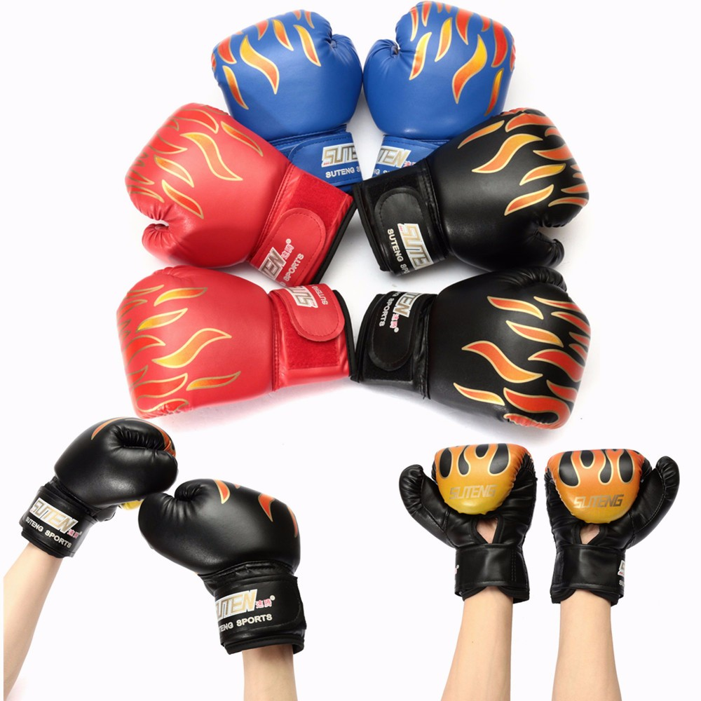 1 Pair Muay Thai Boxing Gloves Sparring Fight Training Coaching